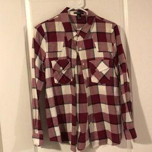 Forever 21 Checkered fleece shirt